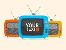 Vector banner retro tv. Flat Design Stock Photo