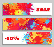 Vector banner sale collection. Royalty Free Stock Photography