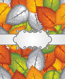 Vector banner and seamless leaves background included Royalty Free Stock Image
