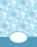 Vector banner and seamless pattern included Stock Images