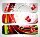 Vector banner set on a Christmas theme. Royalty Free Stock Images