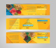 Vector banner set. Color concept geometric design Royalty Free Stock Images