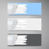 Vector banner set . Colorful line. Strips Royalty Free Stock Image
