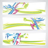 Vector banner set with fun design Royalty Free Stock Photography