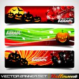 Vector banner set on a Halloween theme. Stock Image