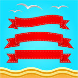 Vector banner set. Ribbons collection. Royalty Free Stock Images