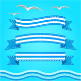 Vector banner set. Ribbons collection. Royalty Free Stock Photography