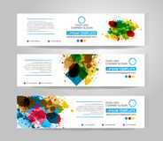 Vector banner set. Color concept geometric design Royalty Free Stock Photography