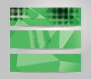 Vector banner set. Color concept geometric design Royalty Free Stock Photo