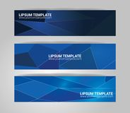Vector banner set. Color concept geometric design Stock Image