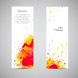 Vector Banner Set Watercolor Royalty Free Stock Photography