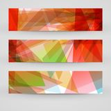 Vector banner set for your design Stock Images