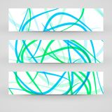 Vector banner set for your design Stock Image