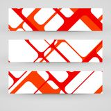 Vector banner set for your design Royalty Free Stock Images