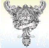 Vector Banner Skull Apparel Design Royalty Free Stock Photos