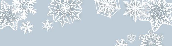 Vector banner with snowflakes - vector illustration Royalty Free Stock Images