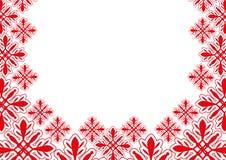 Vector banner. Snowflakes. Stock Photos