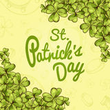Vector banner for St. Patrick's Day. Illustration with hand drawn sketch. Royalty Free Stock Photography