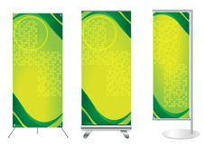 Vector banner stand display. With identity background ready for use Royalty Free Stock Image