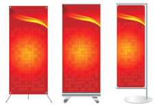 Vector banner stand display Stock Image