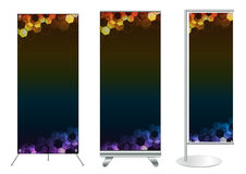 Vector banner stand display Royalty Free Stock Photo
