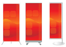 Vector banner stand display Royalty Free Stock Images