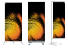Vector banner stand display Stock Photography