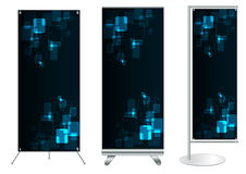 Vector banner stand display Stock Images
