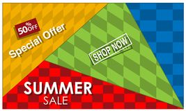 Vector banner Summer sale with discount, element design. EPS file available. see more images related royalty free illustration