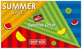 Vector banner Summer sale with fruits , symbol, element design. EPS file available. see more images related vector illustration