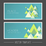 Vector banner template Royalty Free Stock Image