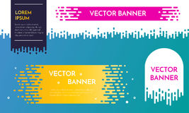 Vector banner template design with dripping irregular flow effect. Royalty Free Stock Photos