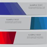 Vector banner template Stock Image