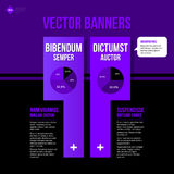 Vector banner template. Useful for web design, presentations and media Stock Photos