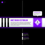 Vector banner template. Useful for web design, presentations and media Stock Images