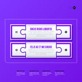 Vector banner template. Useful for web design, presentations and media Stock Image