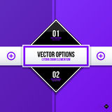 Vector banner template. Useful for web design, presentations and media Royalty Free Stock Photo