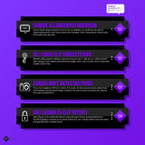 Vector banner template. Useful for web design, presentations and media Royalty Free Stock Photography