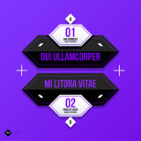 Vector banner template. Useful for web design, presentations and media Stock Photo