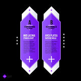 Vector banner template. Useful for web design, presentations and media Stock Photography