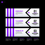 Vector banner template. Useful for web design, presentations and media Royalty Free Stock Image