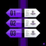 Vector banner template. Useful for web design, presentations and media Royalty Free Stock Images