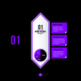 Vector banner template. Useful for web design, presentations and media Royalty Free Stock Photos