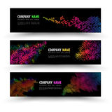 Vector banner templates set with geometry spectrum. Stock Photography