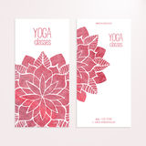 Vector banner templates with watercolor pink abstract flowers royalty free illustration