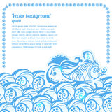 Vector banner with waves and place for your text Royalty Free Stock Images