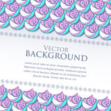 Vector banner with waves and place for your text Royalty Free Stock Photography