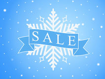 Vector banner for winter sales, seasonal illustration with text Sale Stock Photos