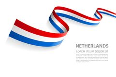 Free Vector Banner With Nederland Flag Colors Stock Image - 117619131