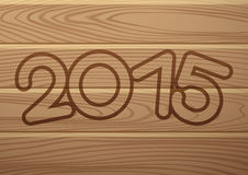Vector banner. 2015 year. Wood texture Royalty Free Stock Image